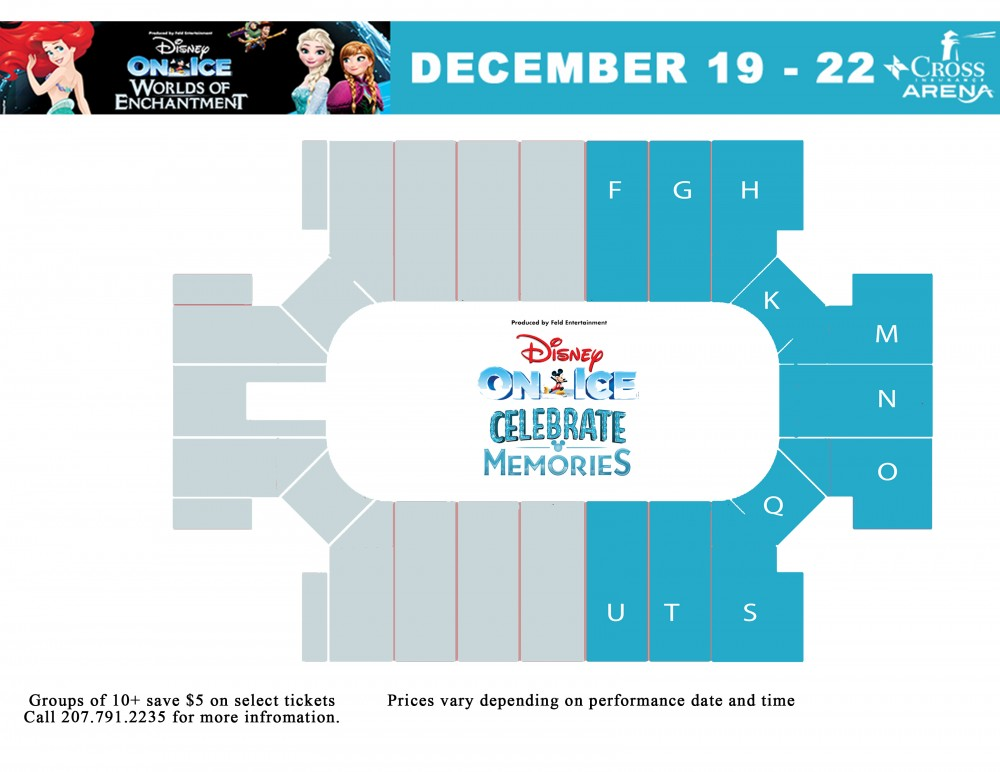 Disney on Ice seating chart